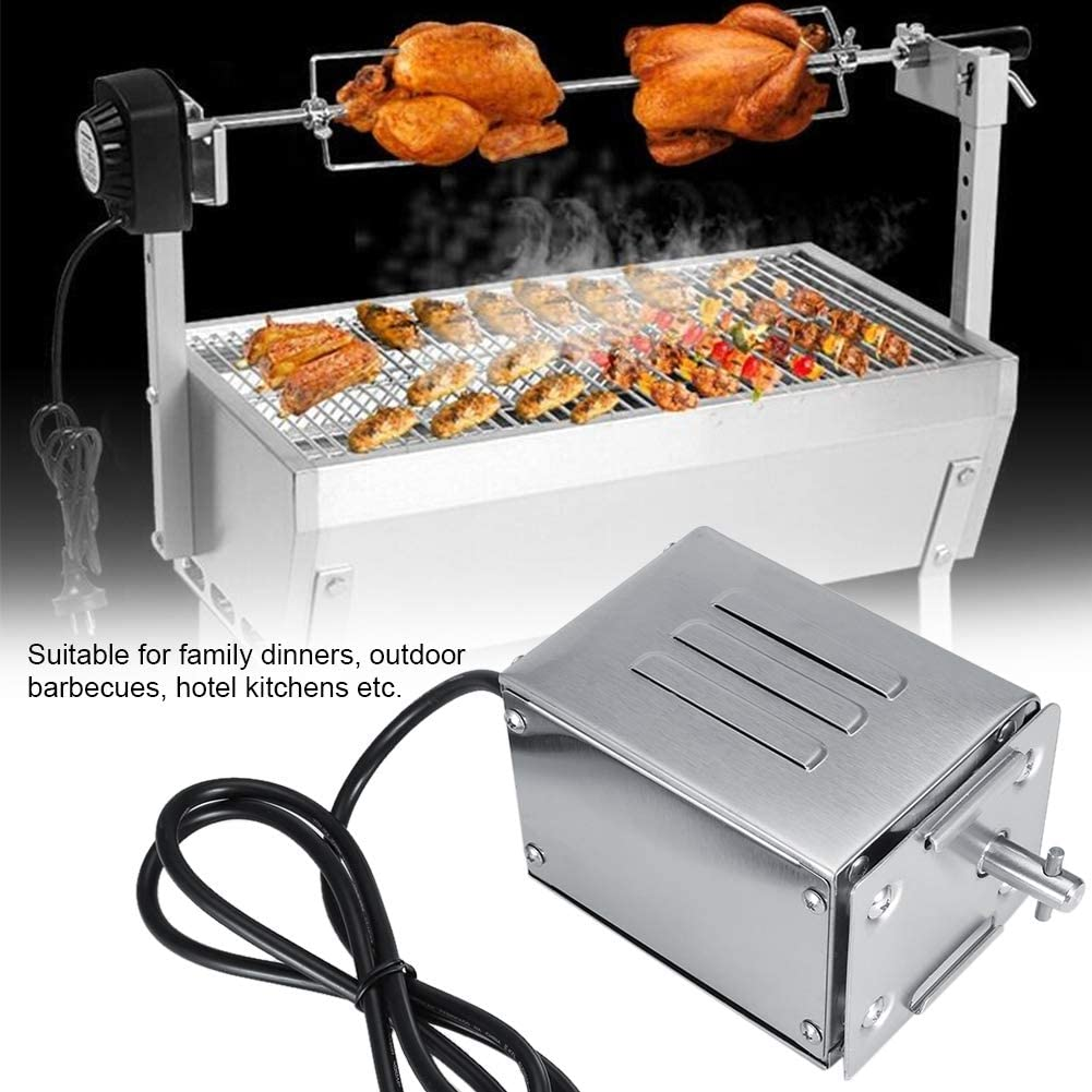 Safer Durable 50-70KGF Spit Rotisserie Motor, Rotisserie Motor, for Family Dinners for Outdoor Barbecues for Hotel Kitchens Graden(Euro 220V) Euro 220v
