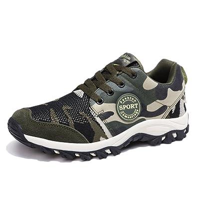 nihiug Wanderschuhe Männer Leichte Wanderschuhe Outdoor-Trekking Herbst Männer Große Größe Rutschfeste Schuhe Turnschuhe,Gray-41