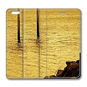 Ocean Landscape 8 iPhone 6 Plus 5.5inch Leather Case, Personalized Protective Slim Fit Skin Cover For Iphone 6 Plus [Stand Feature] Flip Case Cover for New iPhone 6 Plus
