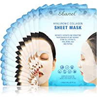 Ebanel 15 Pack Collagen Face Mask, Instant Brightening & Hydrating Face Sheet Mask...