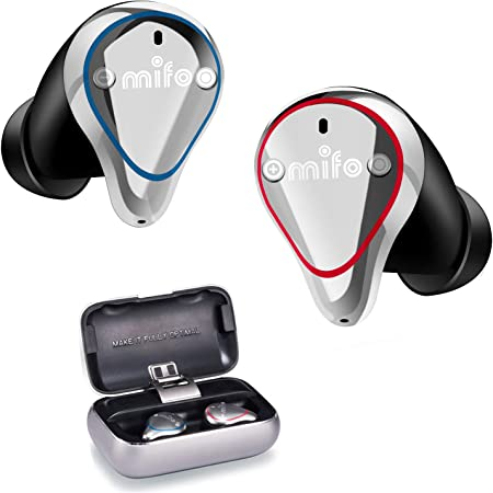 Wireless Earbuds, Mifo O5 Bluetooth 5.0 IPX7 Waterproofed Bluetooth Earbuds, Hi-Fi Sound Wireless Headphones, 100 Hours Playback Noise Cancelling Headsets Built-in Mic Bluetooth Earbuds Standard