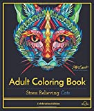 Stress Relieving Cats: Adult Coloring Book, Celebration Edition (Celebration Edition Series)