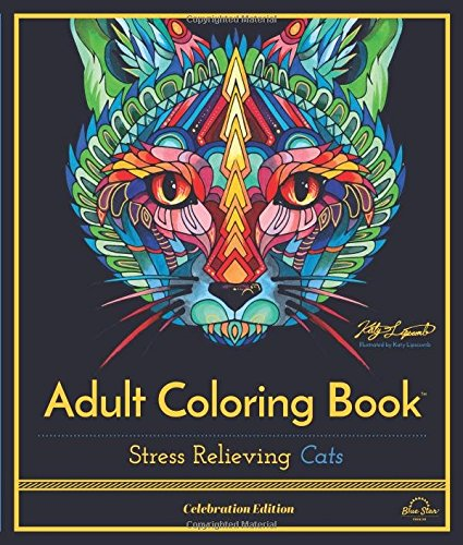 Stress Relieving Cats Coloring Celebration