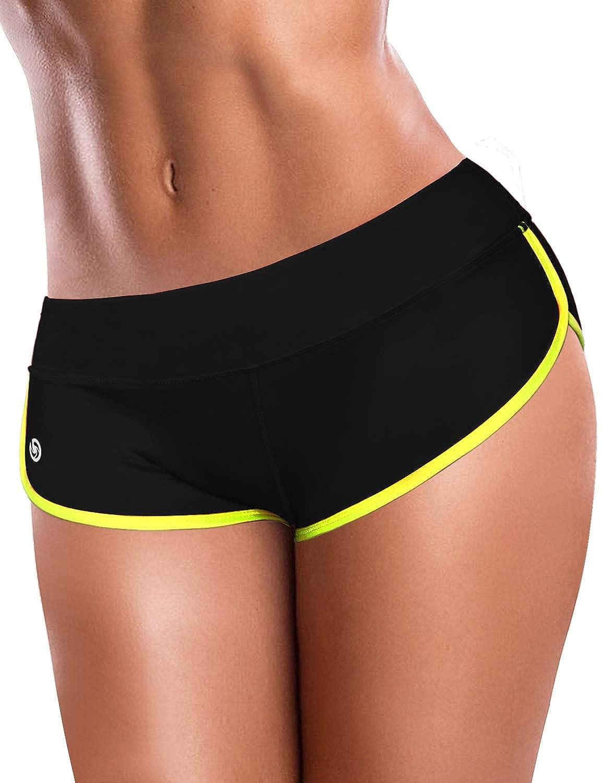 Yoga Tummy Control BUBBLELIME Yoga Shorts Running Shorts Workout Fitness Active Wicking UPF30