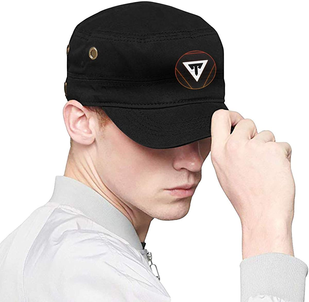 J4b756J Adult Flat Cap Typical-Gamer Adjustable Cotton Hat with Snap Closure