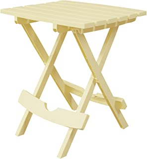product image for Adams Manufacturing 8500-10-3700 Plastic Quik-Fold Side Table, Banana