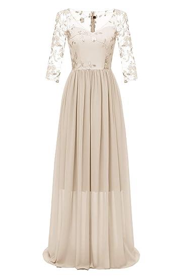 check-out 5df07 a2104 KAXIDY Col V Robe de Soirée Longue Élégante Femme Élégant ...