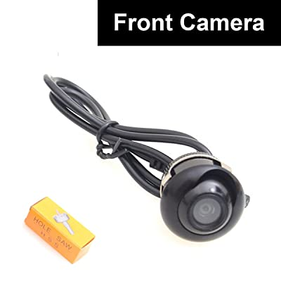 Front View Camera, EKYLIN Car Auto Front View Forward Camera Screw Bumper Mount Universal Fit Non-Mirror Image w/o Grid Lines: Car Electronics