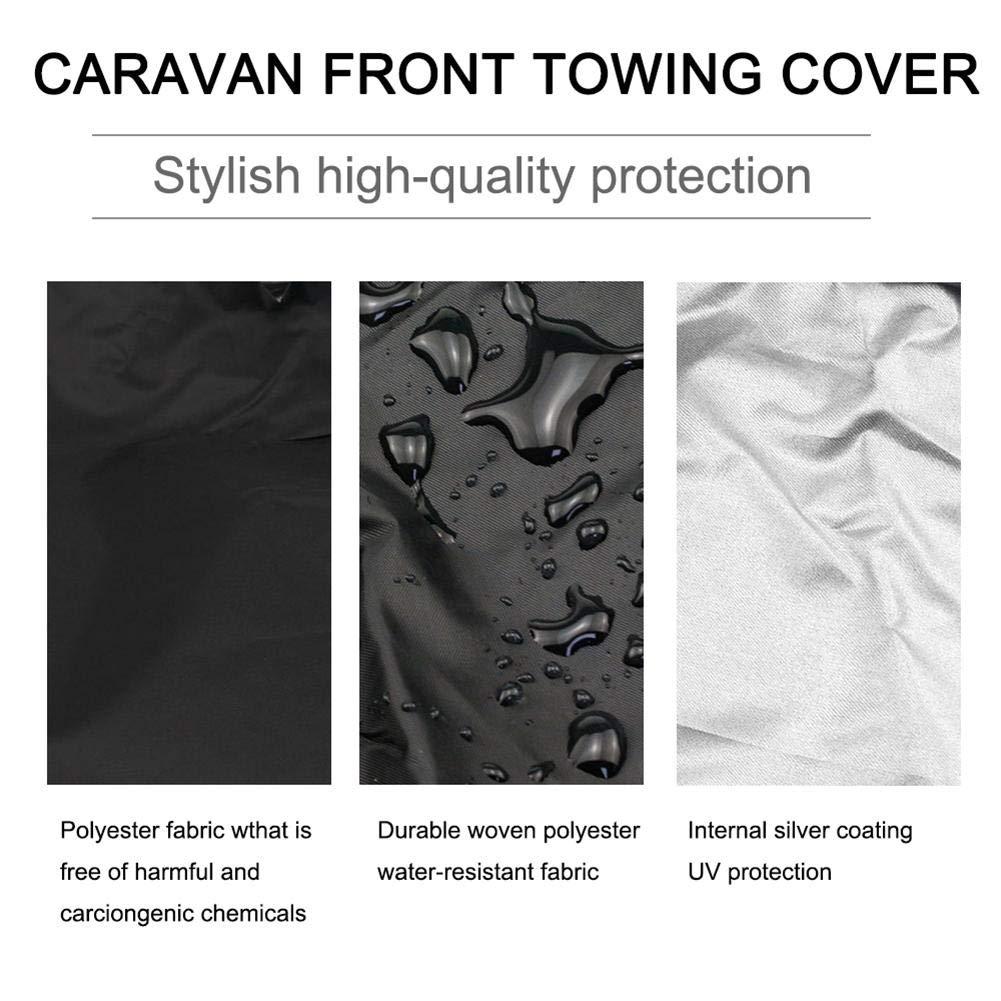 wonderday Housse de Protection Caravane Grise pour Traction Avant Gratuite avec /éclairage LED Taille Universelle
