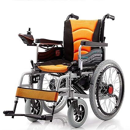 Chair Silla de Ruedas eléctrica Plegable con Motor Doble con ...