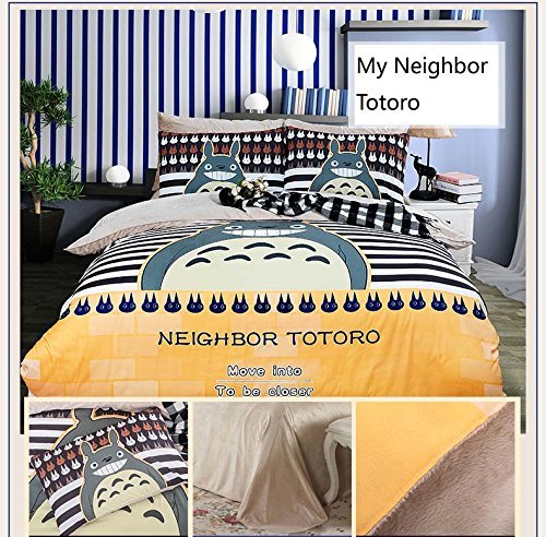 Norson My Neighbor Totoro Velvet Bedding Sets 4pcs