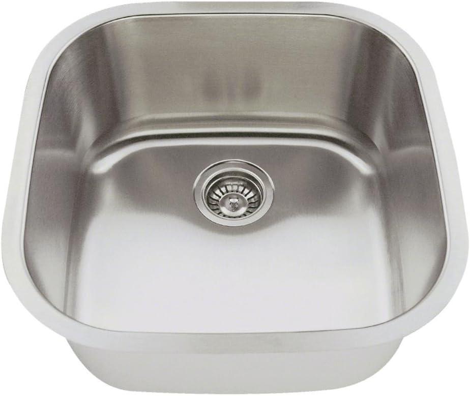 2020 18-Gauge Undermount Single Bowl Stainless Steel Bar Sink