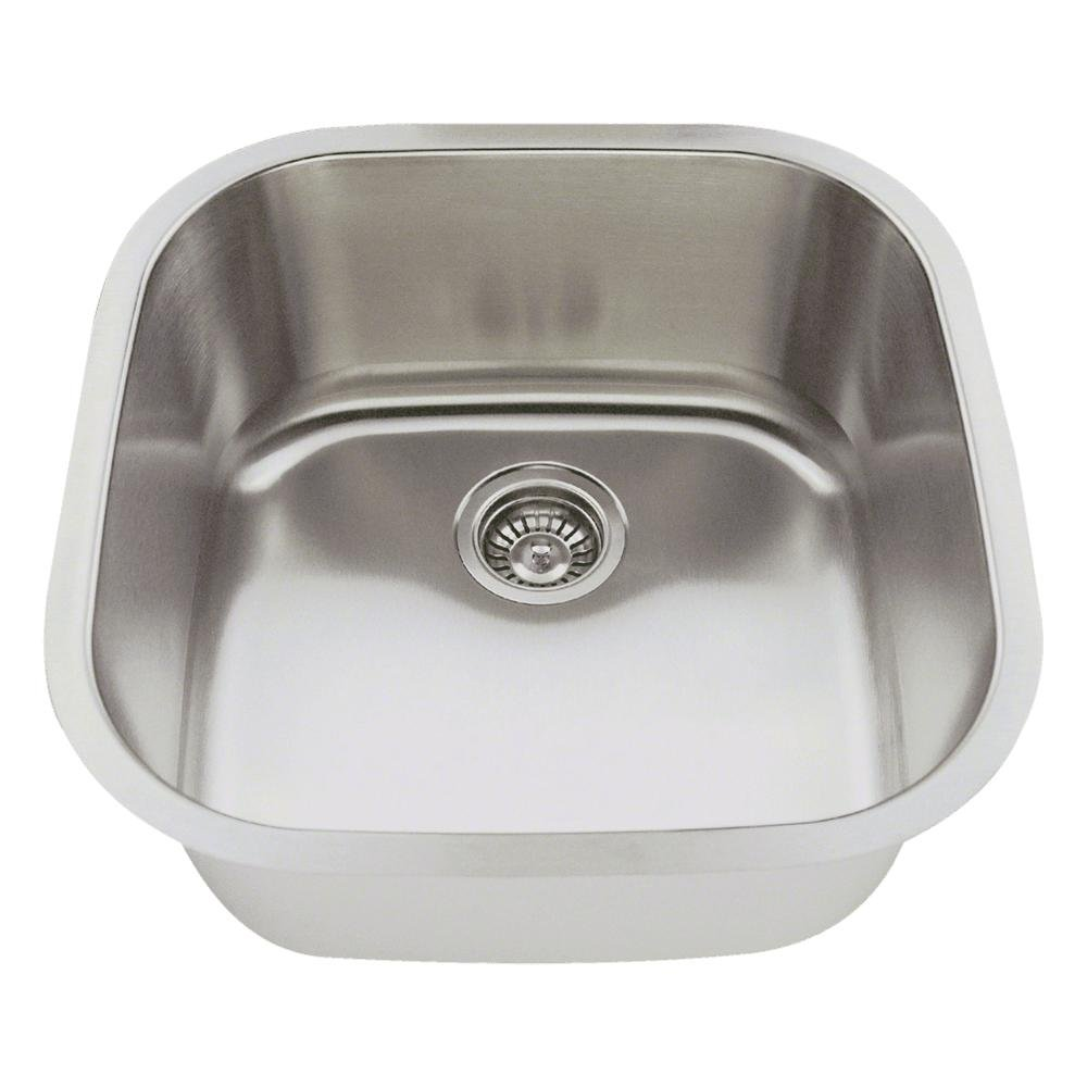 2020 16-Gauge Undermount Single Bowl Stainless Steel Bar Sink