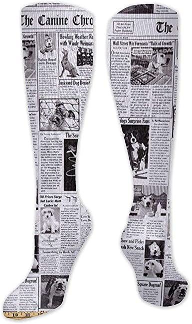 OKME Custom Calcetines Unisex, Periódico Negro Calcetines De Corte ...