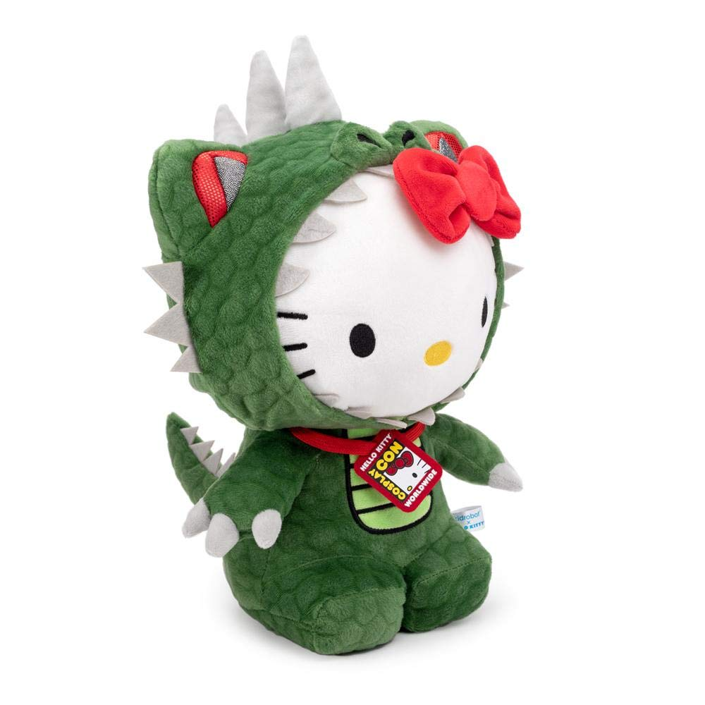 Kidrobot X Sanrio Hello Kitty Kaiju Dinosaur Cosplay Plush