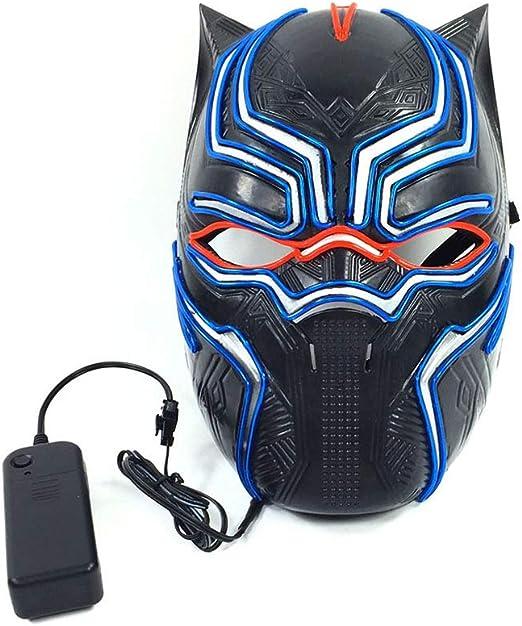 Black Panther Halloween Glowing Mask, 3 Tipos De Modo De Flash ...