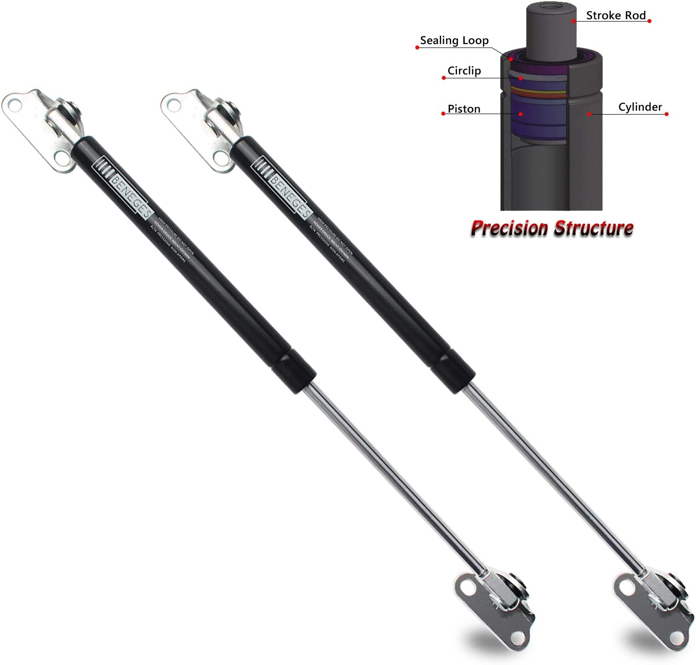 Suspa C16-02648 C1602648 17 Gas Prop Struts Force is 35 Lbs Per Prop Made in USA Suspa® Force Per Set is 70 Lbs,/Camper Rear Window Quantity Window Lift Support Tonneau Cover Lift Supports 2