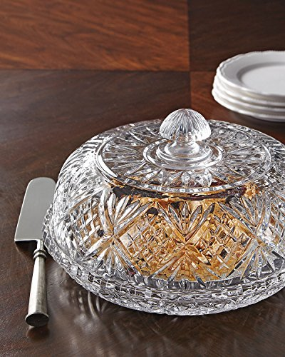 Elegant Decorative Le'raze Beautiful Crystal Covered Pie Dome, Crystal Cake Plate with Dome Cover,