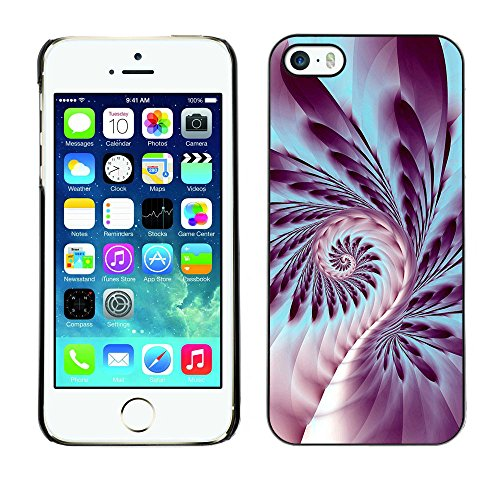 TaiTech / Case Cover Housse Coque étui - Fern Plant Spiral Life Symbol Purple Art - Apple iPhone 5 / 5S