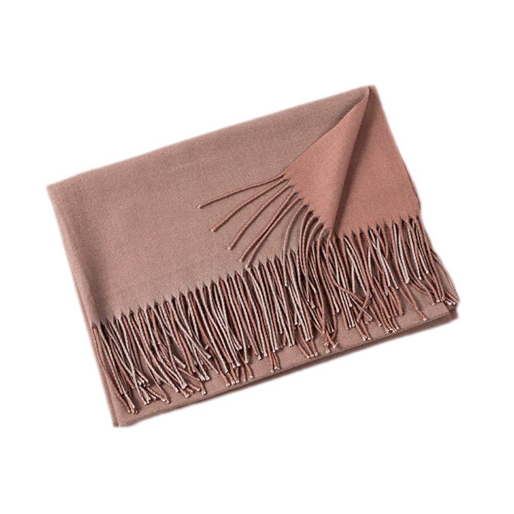 MoGist Sciarpa da Donna alla Moda Colore Nappa Semplice Double-Face Sciarpa 200 * 65CM Cashmere Sciarpa Autunno//Inverno Arancione Scuro Mantello Caldo