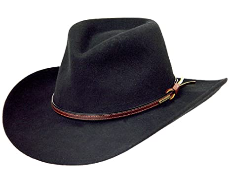 amazon com stetson men s bozeman wool felt crushable cowboy hat