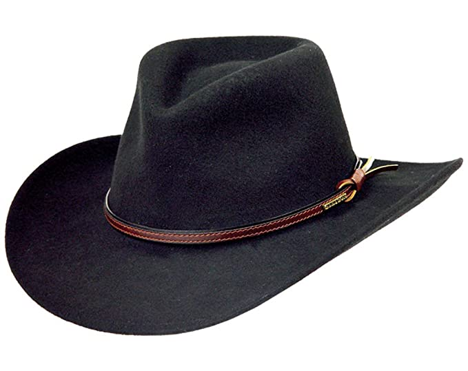 a61dc089c Stetson Men's Bozeman Wool Felt Crushable Cowboy Hat - Twboze-813007 Black