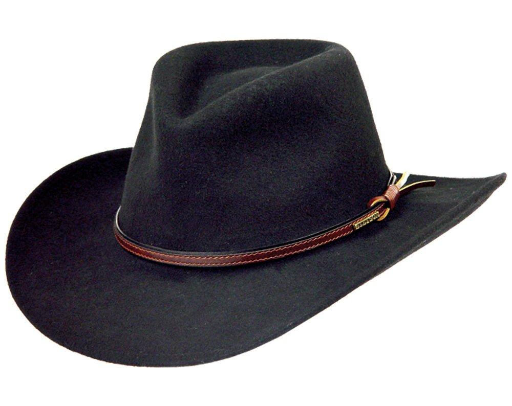 17a723fa18a Stetson Men s Bozeman Wool Felt Crushable Cowboy Hat - Twboze-813007 Black  product image