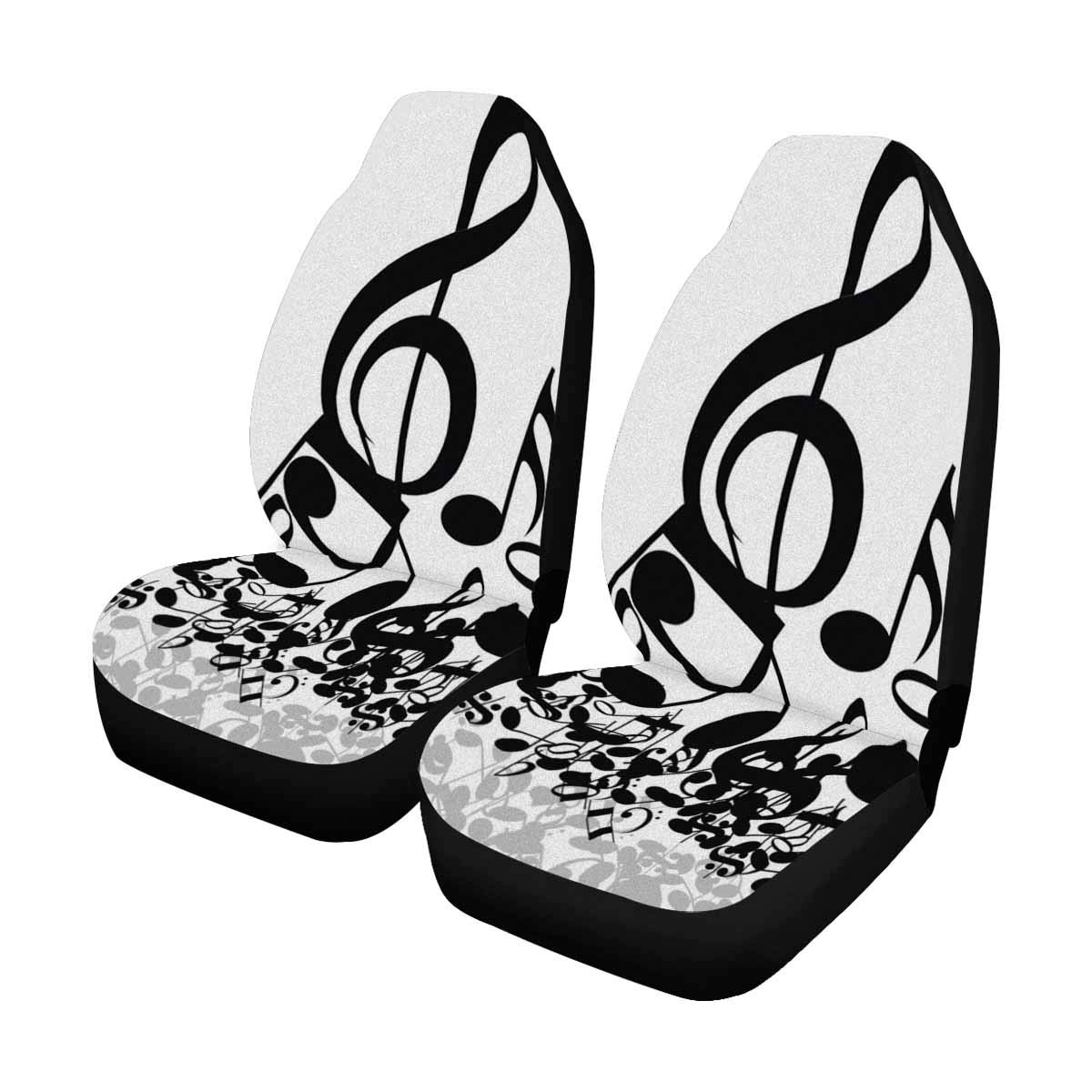 Vehicle Seat Protector Car Mat Covers Van Fit Most Vehicle Cars Truck SUV Sedan INTERESTPRINT Music Note Auto Seat Protector 2 Pack