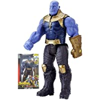 Storio Marvel and Justice League Comic/Movie Super Hero Legends - 12 Inch Thanos Action Figure Toy with Sound