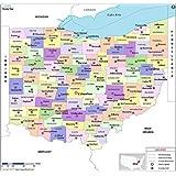 Amazon.com : Ohio County with Zip Code Map (36