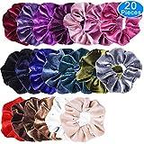 JSBelle Set de 20 Peinados para el cabello, Velvet Elastic Hair Bands para mujeres o niñas (20 colores)