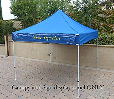 10ft X 10ft Replacement Canopy Royal with one Detachable Sign display panel (Top Only) & Amazon.com : 10ft X 10ft Replacement Canopy Royal with one ...