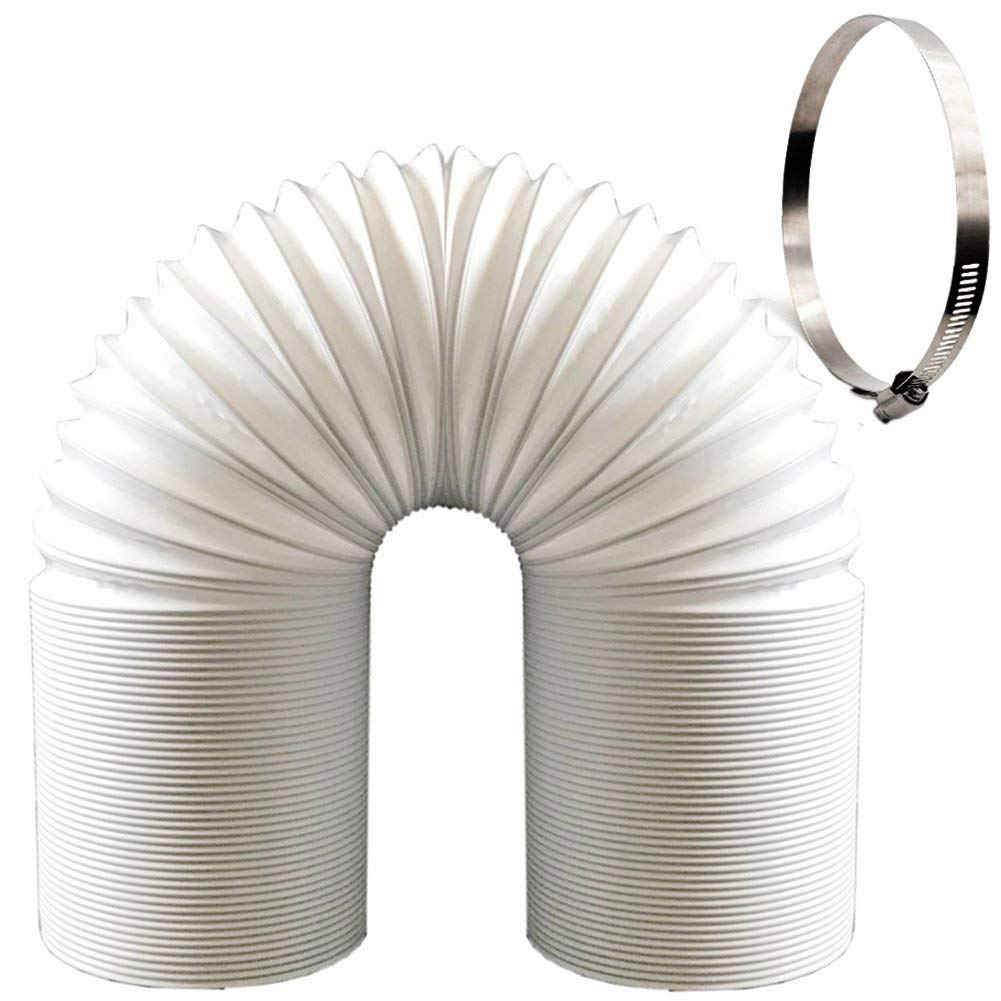 Kodiak Universal Exhaust Hose for Portable Air Conditioners (5'' Diameter 79'' Length) |Free Steel Clamp Included
