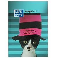 Oxford Funny Pets Cahier de Textes Megatext 2018-2019 rembordé rigide 224 Pages 15 x 21 cm motif Chaton