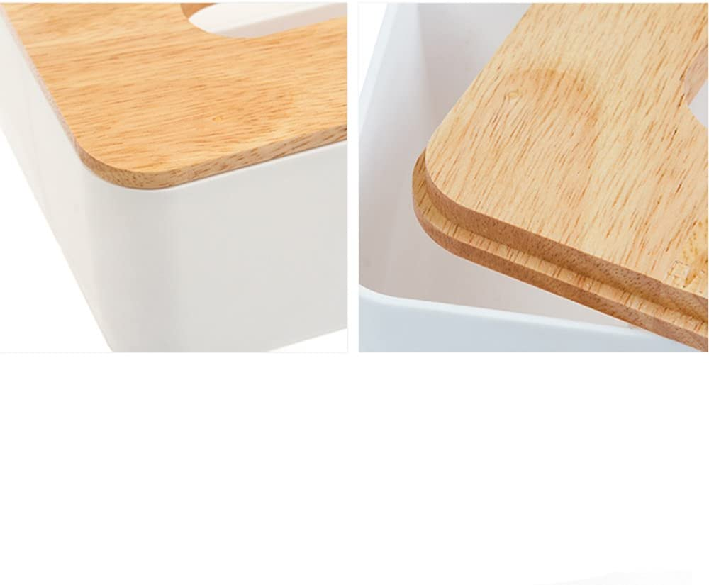 A Hearsbeauty quercia di plastica per fazzoletti scatola di carta supporto di memorizzazione della scatola del tessuto porta carta igienica dispenser per la casa ufficio e auto bagno plastica