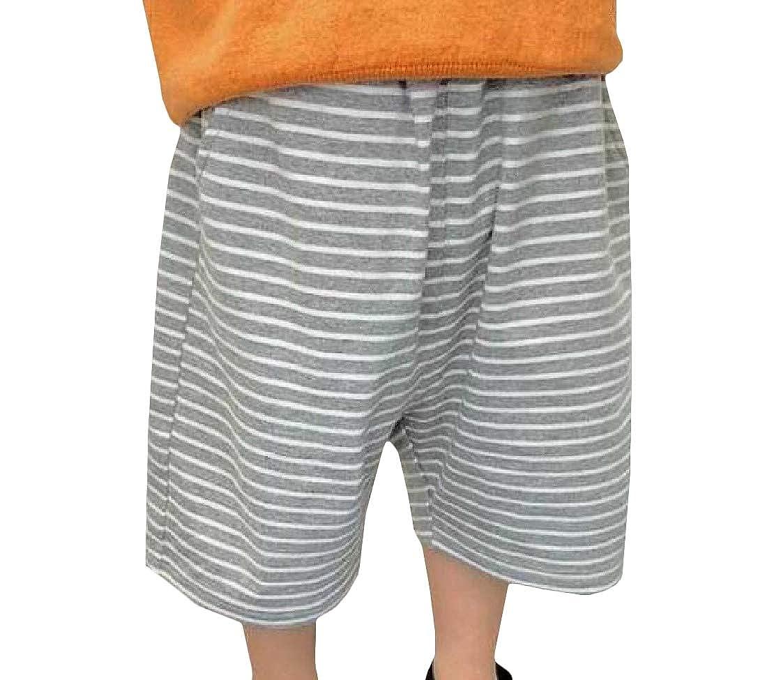 pipigo Boy and Girl Comfy Elastic Waist Striped Wide Leg Pants Trousers