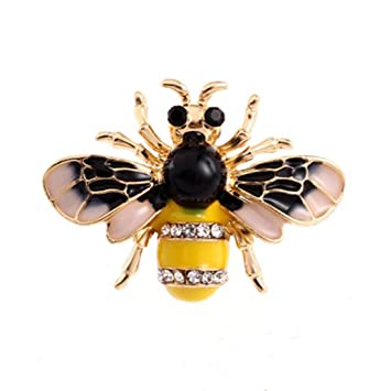 f022326a8c Botrong® Crystal/Rhinestone Lovely Bee Gold Silver Plated Women's Collar  Brooch Pin