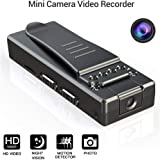 Mini Wireless Hidden Camera, Full HD 1080P Pocket Clip Camera, Wearable Body Video Recorde with Night Vision for Home, Car, Office and Outdoor Use