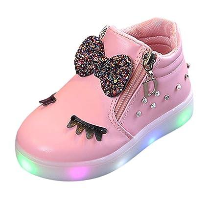 Scarpe Bambino Con Luci Led Scarpe Led Bambini Scarpe Sportiva Scarpe Con Luci Sneakers Bambini Neonato Ragazze Cristallo Led Luminoso Stivali Scarpe