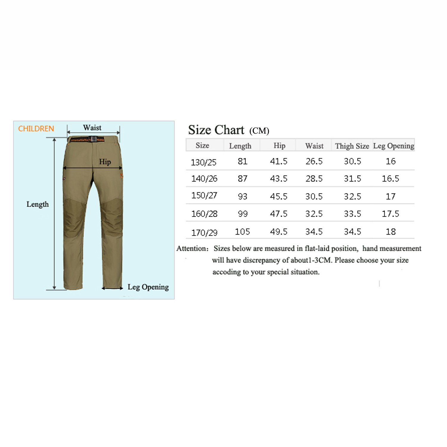 MERRTO Girl's Camping Quick Dry Athletic Pants MT19038-G