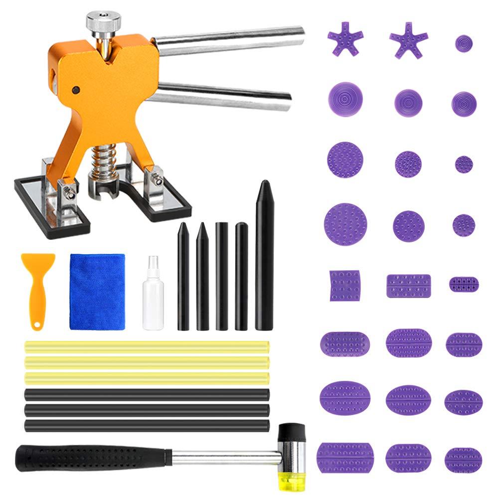 BBKANG Paintless Dent Removal Repair Remover Tool 40pcs Kit Car Dent Lifter Hail Dent Set Tap Down Tools for Hail Damage Door Ding