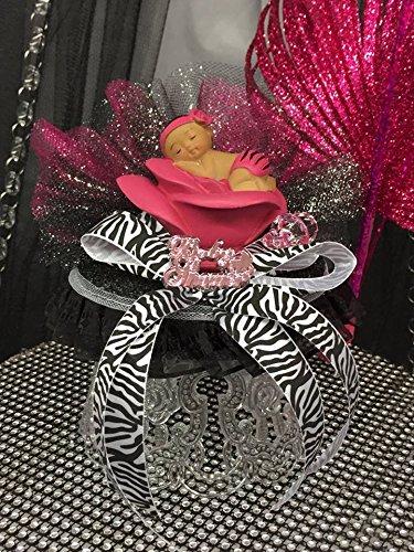 fuchsia-zebra-ethnic-girl-baby-shower-cake-topper-or-centerpiece