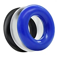 L'aise vie Waterproof Penis Ring Cock Soft Stretchy Durable TPE Silicone Cock Ring Extended Erection Larger Girth Prolonged Fun & Delayed Ejaculation Male Enhancement--Pack of 3 for Men