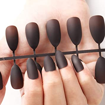 Fake Nails Matte 24pcs Detachable tips for Nail ... - Amazon.com