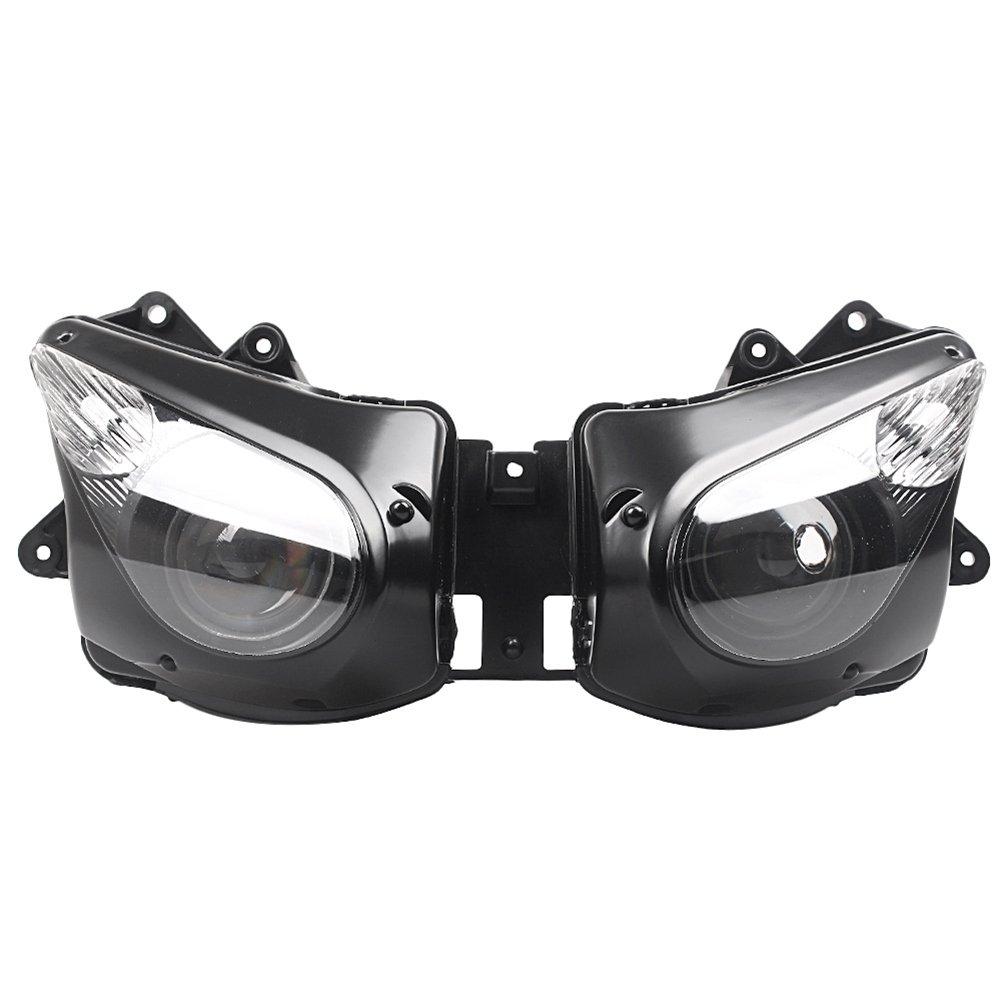バイク 高品質 ヘッドライト カバー 電球なし 専用設計 ABS製 交換 防水 耐衝撃 耐熱 ドレスアップ カスタム 外装 パーツ カワサキ ZX10R 2006-2007 B07S183TY4