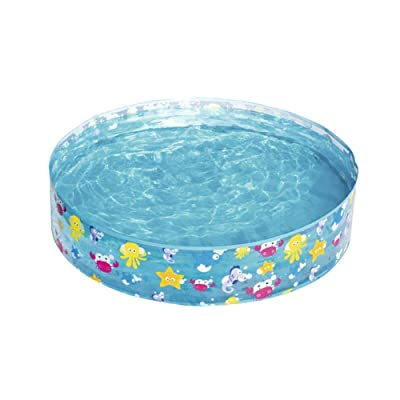 headytidy Kid Bath Pool, Non Inflatable Bathing Tub Kiddie Pool, 122×25CM Baby Pool for Kids and Dogs Cats: Home & Kitchen