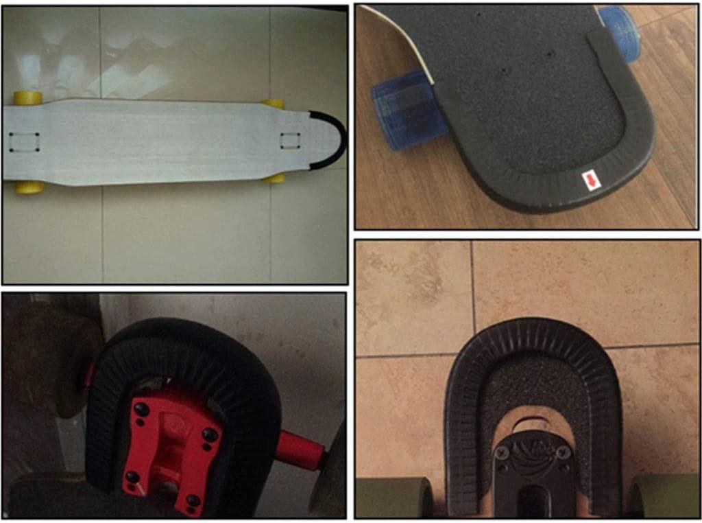 F Fityle 2 Pz Skateboard Deck Protection Gomma Strip Longboard Kit di Protezione Attrezzo