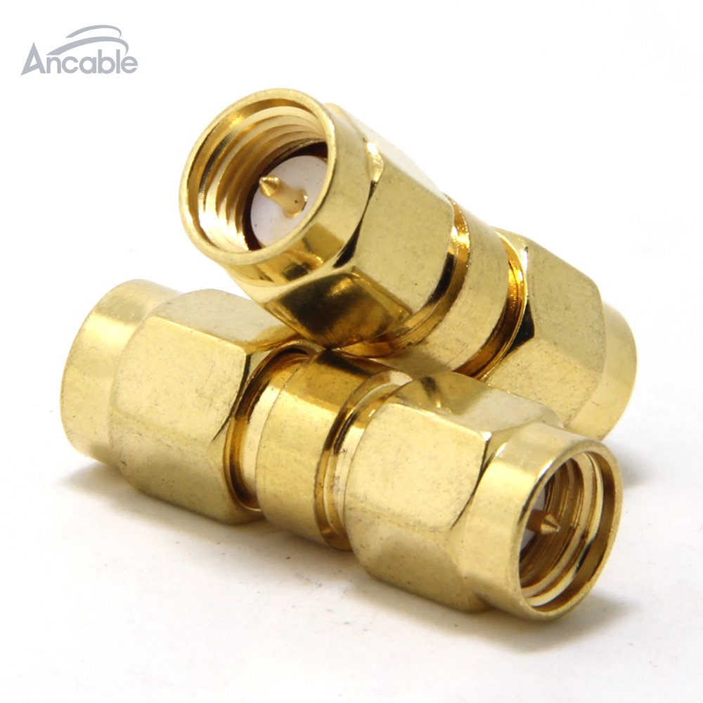 Ancable 2-Pack SMA Male to Male Plug RF Coaxial Adapter Connector Ancable Electronics