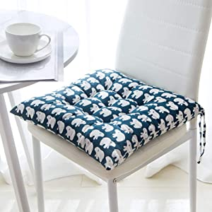 PeiQiH Chair Cushions with Ties for Kitchen Chair 2-Pack, Thicken Square Quilted Soft Floor Cushion for Office Patio Garden Dining Chair Pads-a 50x50x8cm