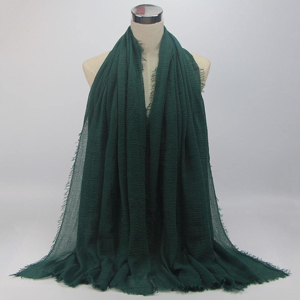RNTOP Premium Viscose Maxi Crinkle Cloud Hijab Scarf Shawl Soft Islam Muslim